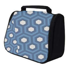 Blue Hexagon Full Print Travel Pouch (small)