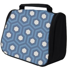 Blue Hexagon Full Print Travel Pouch (big)