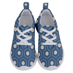 Blue Hexagon Running Shoes
