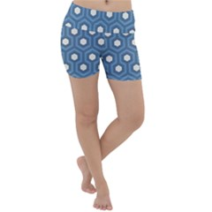 Blue Hexagon Lightweight Velour Yoga Shorts