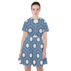 Blue Hexagon Sailor Dress