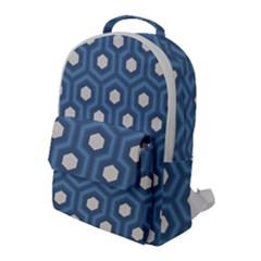 Blue Hexagon Flap Pocket Backpack (large)