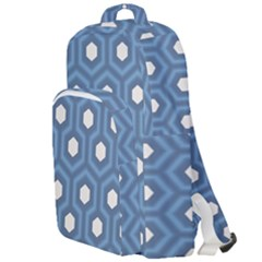 Blue Hexagon Double Compartment Backpack