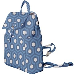 Blue Hexagon Buckle Everyday Backpack