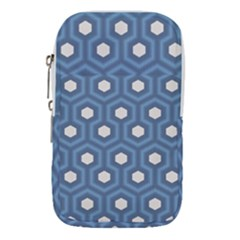 Blue Hexagon Waist Pouch (small)