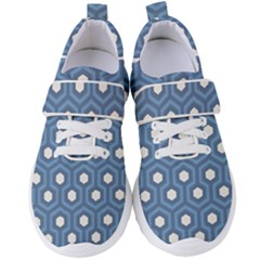Blue Hexagon Women s Velcro Strap Shoes