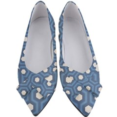 Blue Hexagon Women s Bow Heels