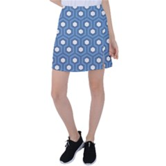 Blue Hexagon Tennis Skirt