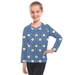 Blue Hexagon Kids  Long Mesh Tee