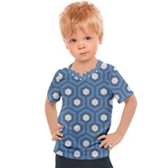 Blue Hexagon Kids  Sports Tee