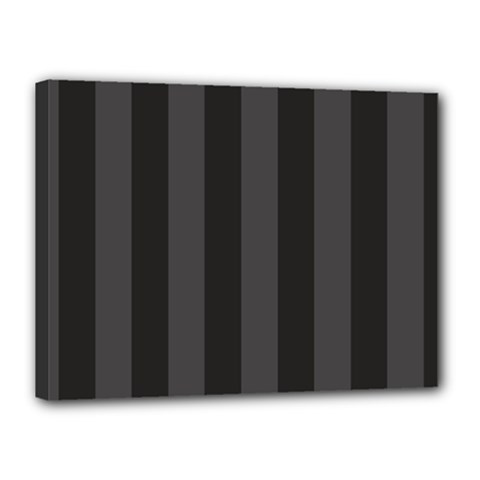 Black Stripes Canvas 16  X 12  (stretched)