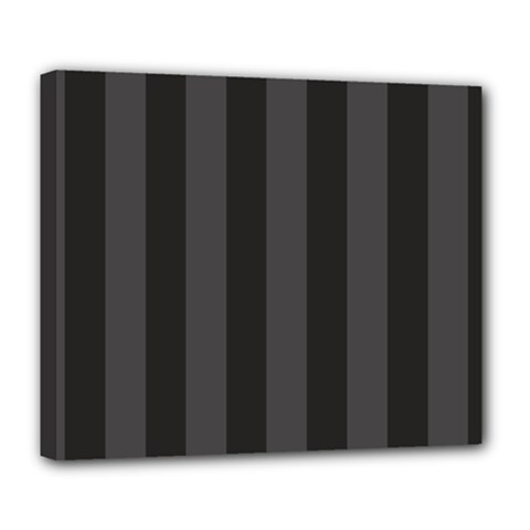 Black Stripes Deluxe Canvas 24  X 20  (stretched)