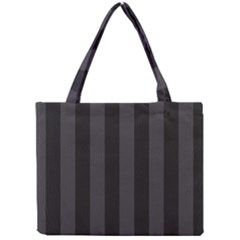 Black Stripes Mini Tote Bag