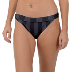 Black Stripes Band Bikini Bottom