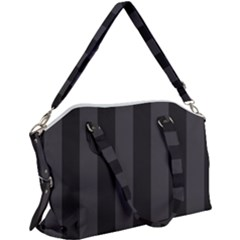 Black Stripes Canvas Crossbody Bag