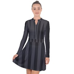 Black Stripes Long Sleeve Panel Dress