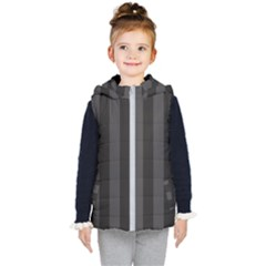 Black Stripes Kids  Hooded Puffer Vest