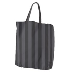 Black Stripes Giant Grocery Tote