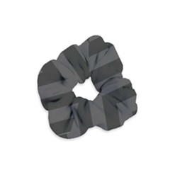 Black Stripes Velvet Scrunchie