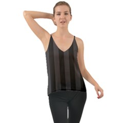 Black Stripes Chiffon Cami