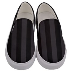Black Stripes Men s Canvas Slip Ons