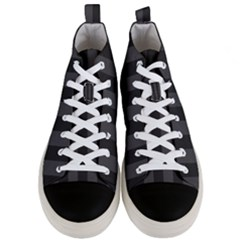 Black Stripes Men s Mid Top Canvas Sneakers