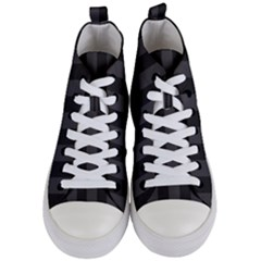 Black Stripes Women s Mid Top Canvas Sneakers
