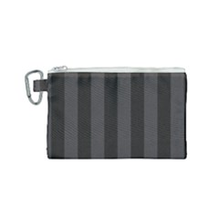 Black Stripes Canvas Cosmetic Bag (small)