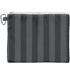 Black Stripes Canvas Cosmetic Bag (xxxl)