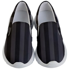 Black Stripes Kids Lightweight Slip Ons