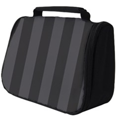 Black Stripes Full Print Travel Pouch (big)