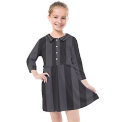 Black Stripes Kids  Quarter Sleeve Shirt Dress