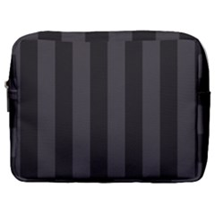 Black Stripes Make Up Pouch (large)