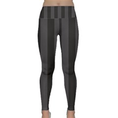Black Stripes Lightweight Velour Classic Yoga Leggings