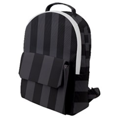 Black Stripes Flap Pocket Backpack (small)