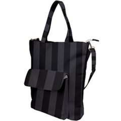 Black Stripes Shoulder Tote Bag