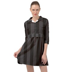 Black Stripes Mini Skater Shirt Dress