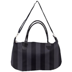 Black Stripes Removal Strap Handbag