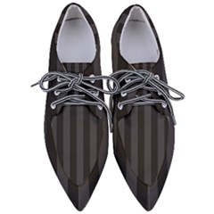 Black Stripes Women s Pointed Oxford Shoes