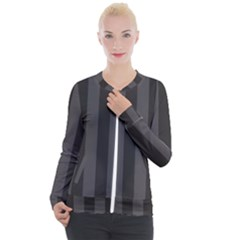 Black Stripes Casual Zip Up Jacket