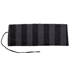 Black Stripes Roll Up Canvas Pencil Holder (s)