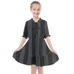 Black Stripes Kids  All Frills Chiffon Dress
