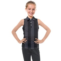 Black Stripes Kids  Sleeveless Polo Tee