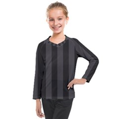Black Stripes Kids  Long Mesh Tee