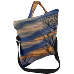 Sunset Scene At Waterfront Boardwalk, Montevideo Uruguay Fold Over Handle Tote Bag by dflcprints