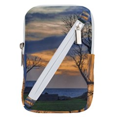 Sunset Scene At Waterfront Boardwalk, Montevideo Uruguay Belt Pouch Bag (small) by dflcprints