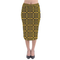Df Unrest Vibe Velvet Midi Pencil Skirt by deformigo