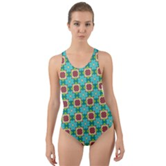 Df Stephania Melins Cut-out Back One Piece Swimsuit by deformigo
