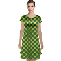 Df Green Domino Cap Sleeve Nightdress by deformigo