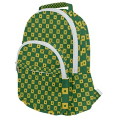 Df Green Domino Rounded Multi Pocket Backpack by deformigo